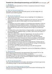 Protokoll der Jahreshauptversammlung vom 22.03.2011Verein ...