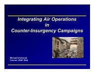 Integrating Air Operations in Counter-Insurgency Campaigns ...