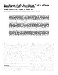 Genetic Analysis of a Quantitative Trait in a Mouse Model of ...