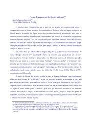 Formas de apagamento das línguas indígenas - Universidade ...