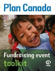 Fundraising Event Toolkit - Plan Canada