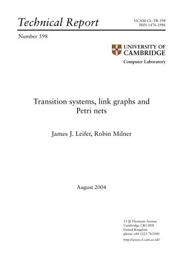 Transition systems, link graphs and Petri nets - The Computer ...