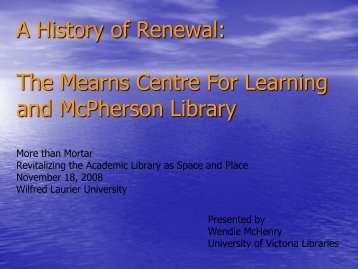 View the presentation slides - Laurier Library