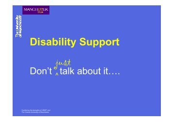 Disability Support - The University of Manchester