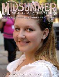 Midsummer Magazine 2007 - Utah Shakespearean Festival