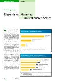 Riesen-Investitionsstau im stationären Sektor