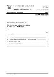 Estrategias y prácticas en materia de inspección del trabajo