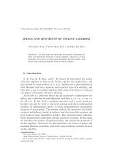 IDEALS AND QUOTIENTS OF INCLINE ALGEBRAS Sun Shin Ahn ...
