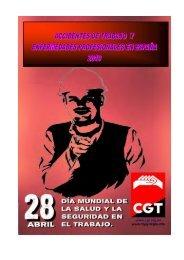 Informe accidentes de trabajo y enfermedades profesionales en - CGT