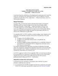 Audit initial — Soldes d'ouverture - Normes d'information financière ...