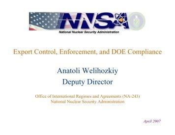 Anatoli Welihozkiy Deputy Director