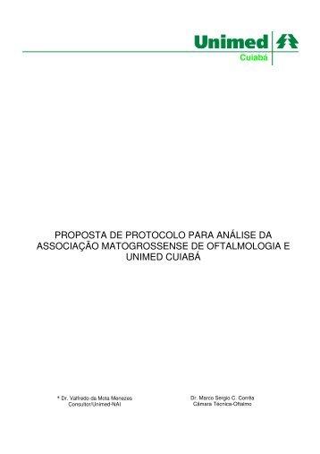PROPOSTA DE PROTOCOLO PARA ANÁLISE DA ... - Unimed Cuiabá
