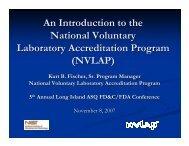 NVLAP - ASQ Long Island Section