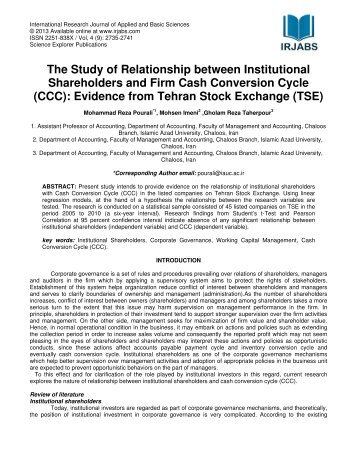 the study on the relationship between