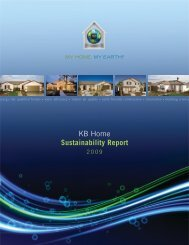 KB Home Sustainability Report