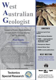 WAG for March 2005 - Geological Society of Australia