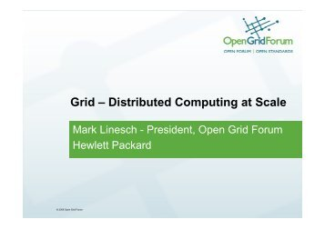 Grid – Distributed Computing at Scale
