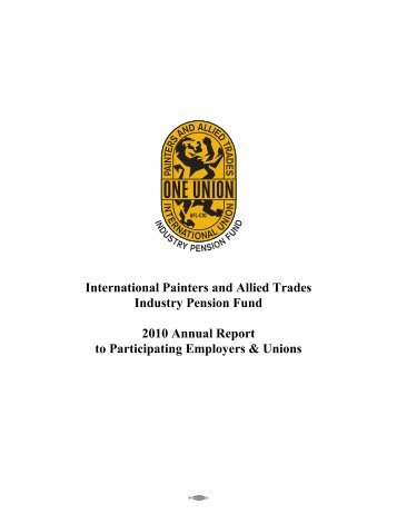 International Painters and Allied Trades Industry Pension ... - IUPAT