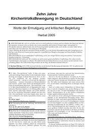 Zehn Jahre KirchenVolksBewegung in Deutschland - Wir sind Kirche