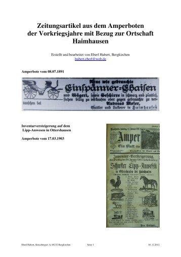 Haimhausen - Schützenverein Hubertus Bergkirchen