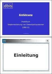 Folien zur Einführungsveranstaltung am 25.04.2006 - dbis