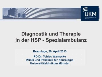 Vortrag von Herrn Dr. Tobias Warnecke