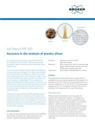 Lab Report XRF 433 Accuracy in the analysis of jewelry alloys - Bruker