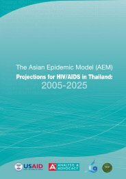 The Asian Epidemic Model (AEM) Projections for ... - AIDS Data Hub