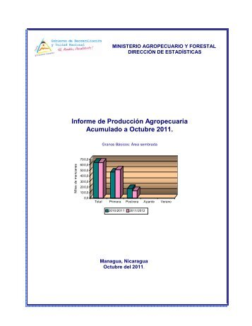 Informe de Producción Agropecuaria Acumulado a Octubre ... - magfor