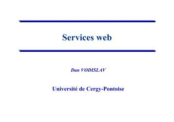 Services web - Université de Cergy Pontoise