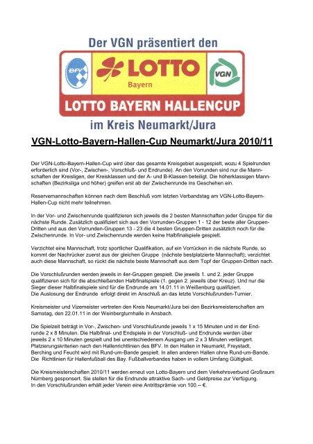 VGN-Lotto-Bayern-Hallen-Cup Neumarkt/Jura 2010/11