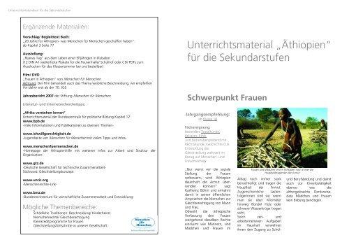 """Unterrichtsmaterial """"Äthiopien"""" für die Sekundarstufen"""