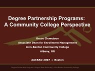 Degree Partnership Programs: A Community College ... - aacrao