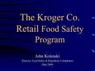 The Kroger Co. Food Safety Programs - Quality Assurance Association