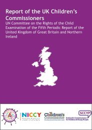 Report to the UNCRC