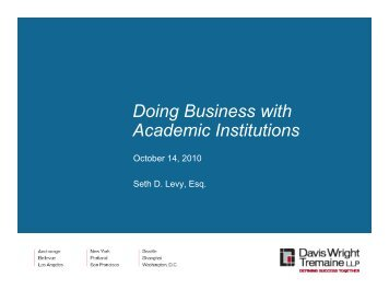 Doing Business with Academic Institutions