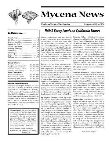 September, 1997 - Mycological Society of San Francisco