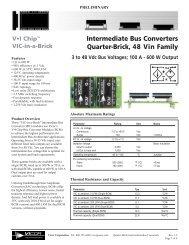 Intermediate Bus Converter IBC Datasheet - ThomasNet