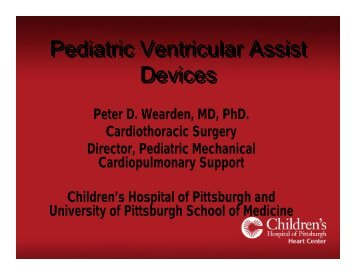 Pediatric Ventricular Assist Devices - University of Minnesota ...