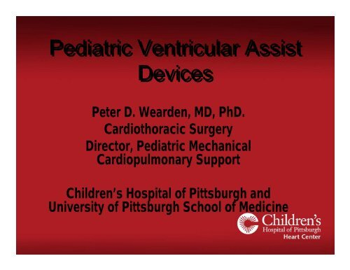 Pediatric Ventricular Assist Devices - University of