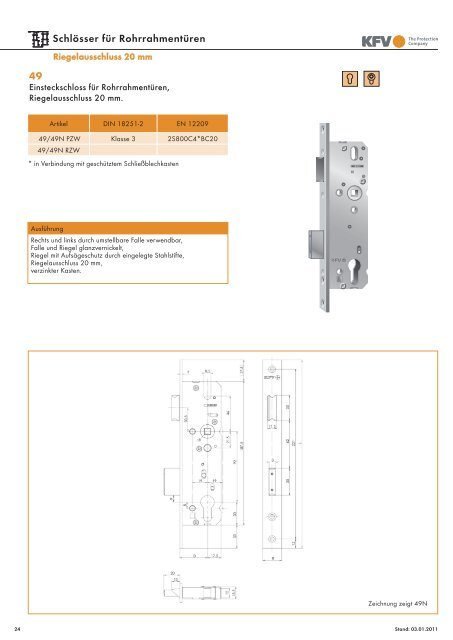 Riegelausschluss 20 mm - Aachener Sicherheitshaus Rennert