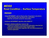 Road Condition – Surface Temperature