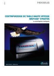 centrifugeuse de table haute vitesse biofuge ... - Wenk Lab Tec