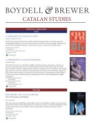 CATALAN STUDIES - University of Rochester Press