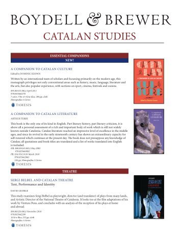 CATALAN STUDIES - University of Rochester Press