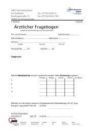 Ärztlicher Fragebogen - AWO Seniorenzentrum am Stadtpark
