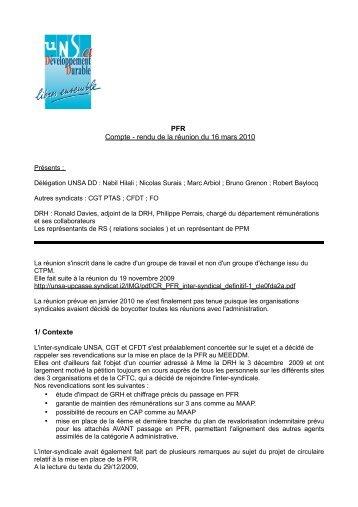 CR_Reunion_DRH-PFR_16-3-2010_v2 - Site conçu par l'UNSA ...