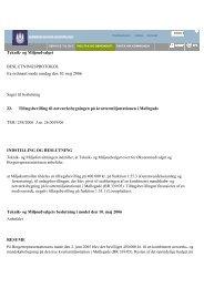 Beslutningsprotokol fra ordinært møde onsdag den 10. maj 2006
