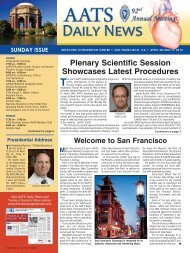 Sunday - Thoracic Surgery News