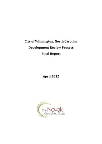 Development Review Process - Final Report - City of Wilmington